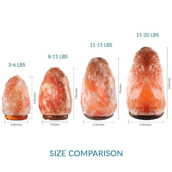 Natural Himalayan Salt Lamp, 15 ~ 20 lbs
