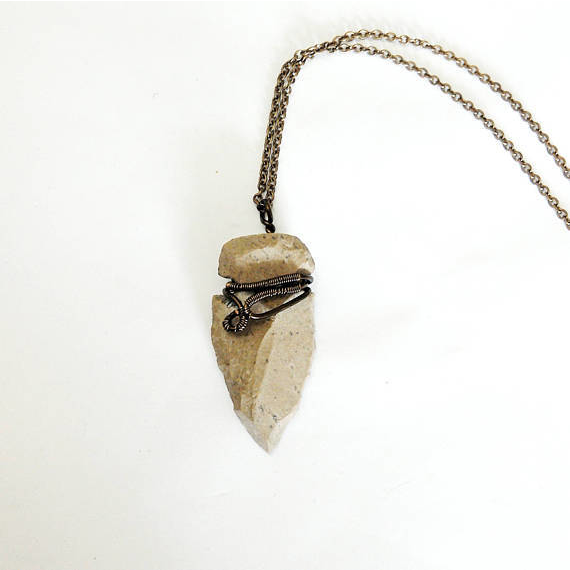 Flint  Arrowhead Necklace