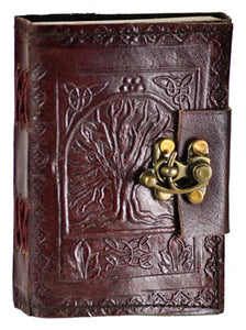 Tree of Life leather blank journal w/ latch