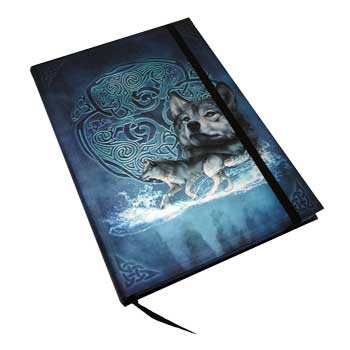 "5 7/8"" x 8 1/4"" Celtic Wolf journal"
