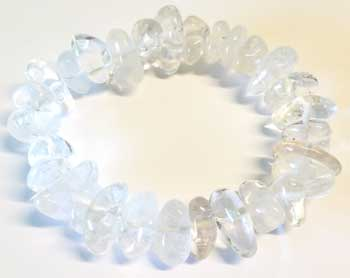 Quartz gemstone bracelet stretch
