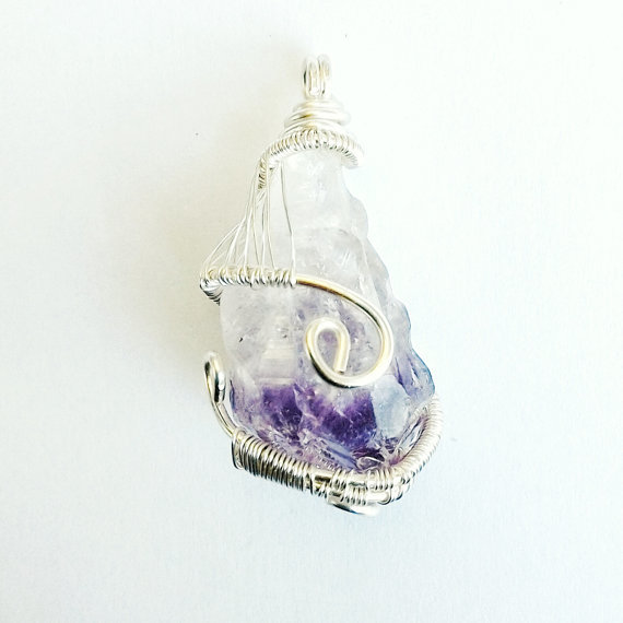 Raw Amethyst Necklace - Large