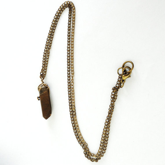 Gold Quarz Necklace
