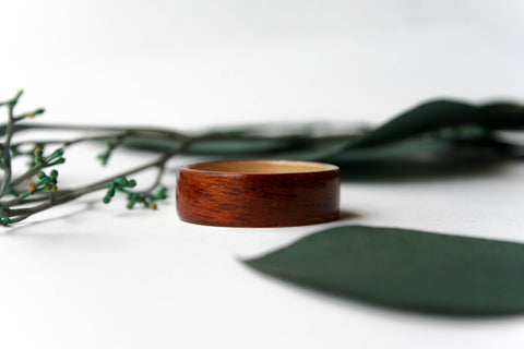 Mohagany + Olive Ash Bentwood Ring - Wooden Wear