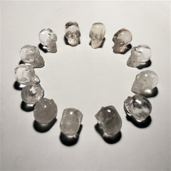 13 Small Quartz Crystal Skull Set with Apocrypha Manifestation Chest