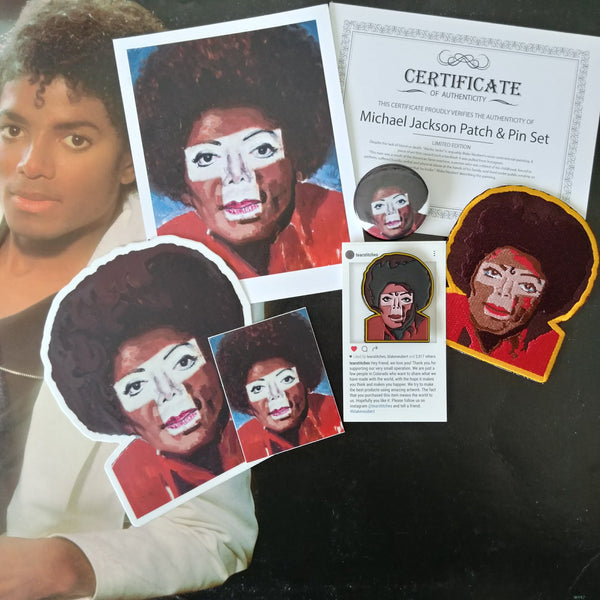 Michael Jackson Pin, Patch and Sticker Set
