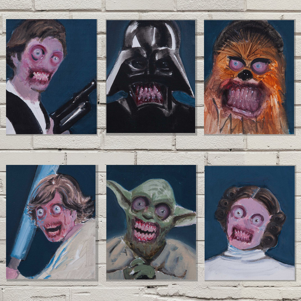 Star Wars 5x7 Six Print Set