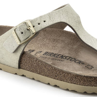 Birkenstock Gizeh Washed Metallic Cream Gold