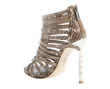 Sam Edelman Hampton Snakeskin Print Caged Sandals