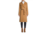 HiSO Classic-Fit Angora & Wool-Blend Belted Wrap Coat