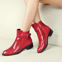 Women's Genuine Leather Fashion Motorcycle Boots