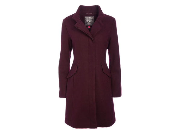 Vince Camuto Wool-Blend Longline Funnel Neck Coat