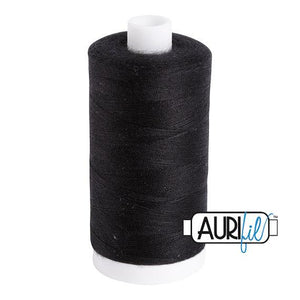 Aurifil Bobbin Thread, 100% Cotton, Black #1161, 60 wt, 1531 yards
