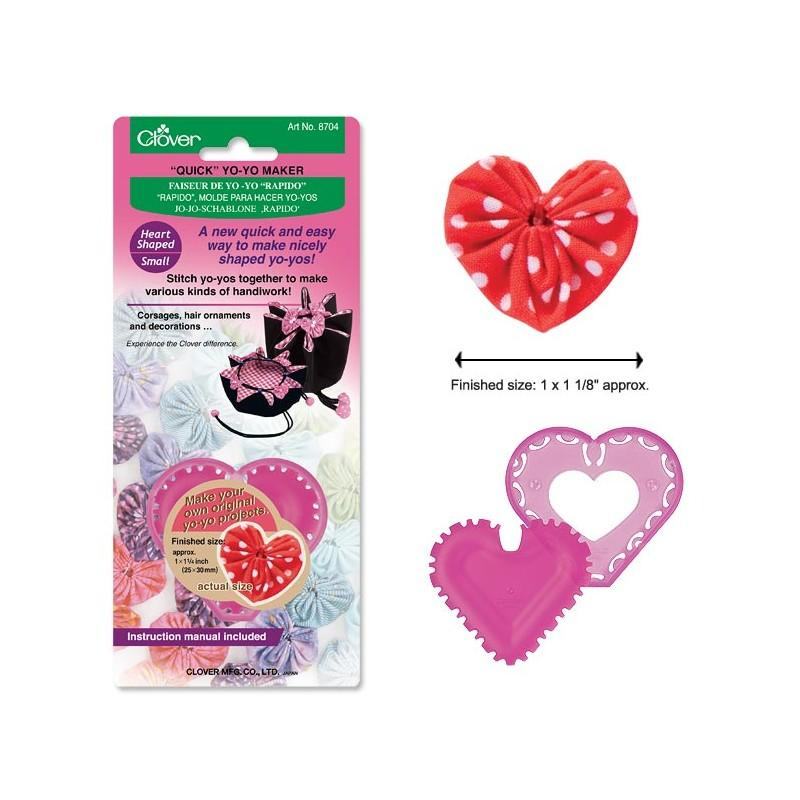 Clover Small Heart-Shaped Quick Yo-Yo Maker
