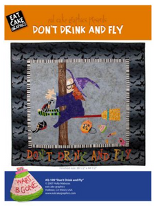 Don't Drink and Fly Wallhanging Pattern by Eat Cake Graphics