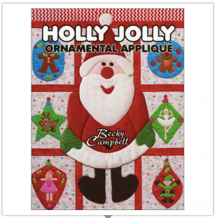 Holly Jolly Christmas Ornamental Appliqué Book by Becky Campbell