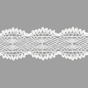 La Conner Lace, 100% Fine Cotton, Crocheted, Vanilla (White), Sold by the Yard