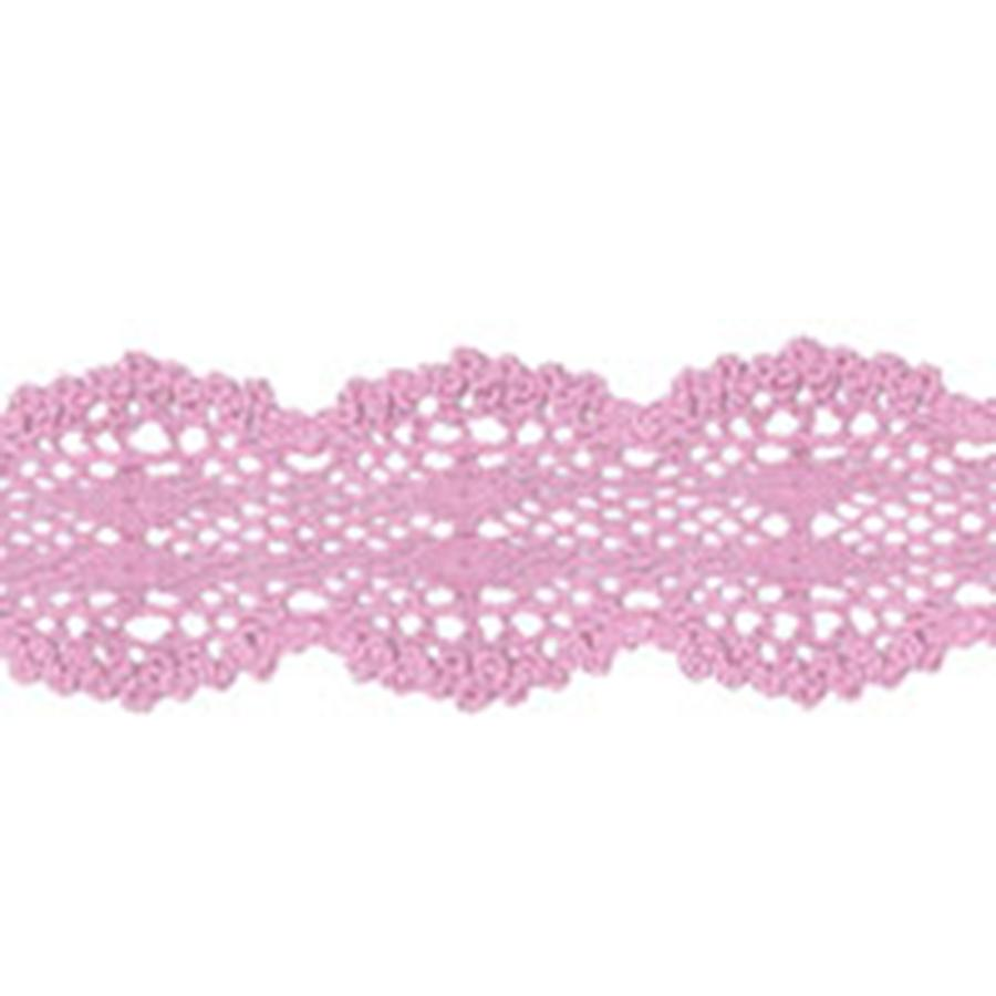 La Conner Lace, 100% Fine Cotton, Crocheted, Peony (Pink), Sold by the Yard