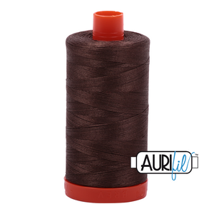 Aurifil Thread, 100% Cotton, Bark #1140, 50 wt, 1422 yards