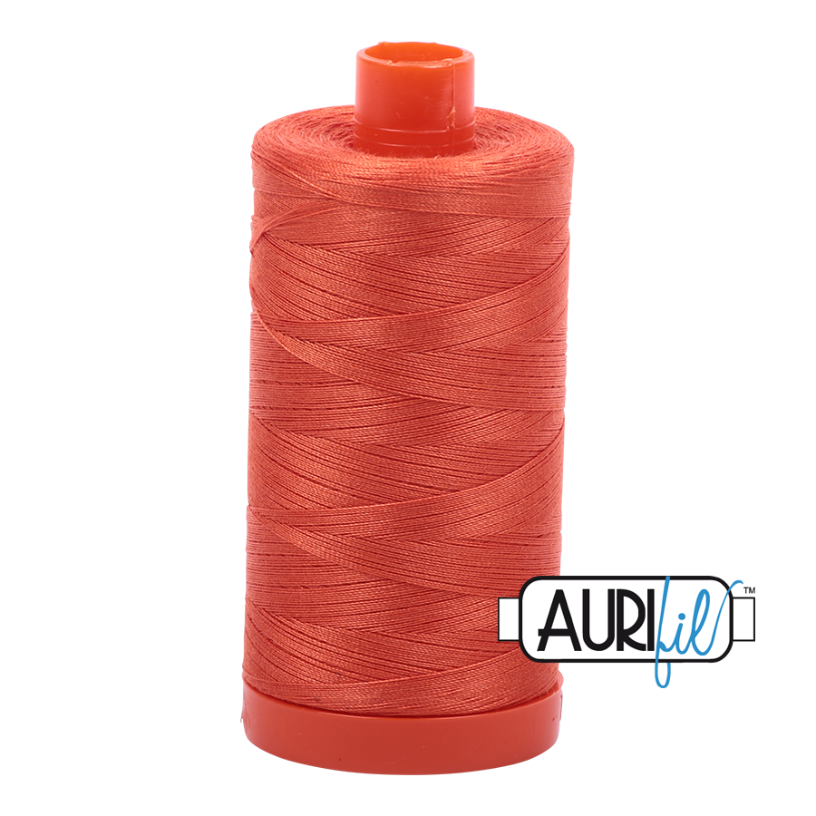 Aurifil Thread, 100% Cotton, Dusty Orange #1154, 50 wt, 1422 yards