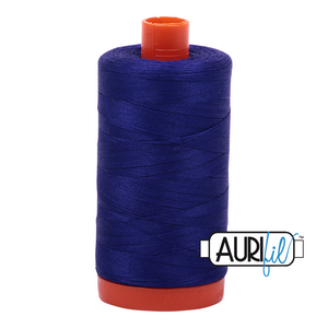 Aurifil Thread, 100% Cotton, Blue Violet #1200, 50 wt, 1422 yards