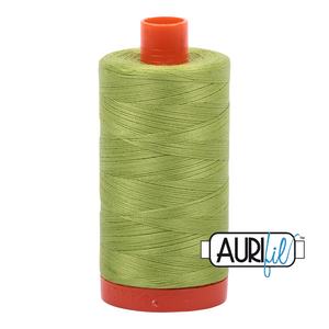 Aurifil Thread, 100% Cotton, Spring Green #1231, 50 wt, 1422 yards
