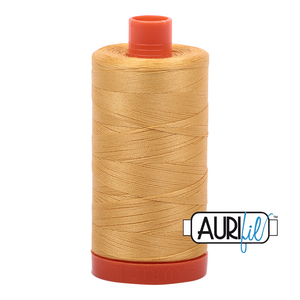 Aurifil Thread, 100% Cotton, Spun Gold #2134, 50 wt, 1422 yards