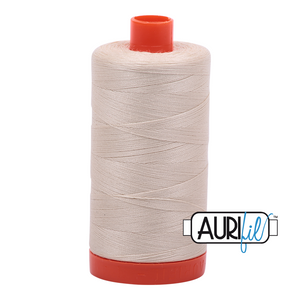 Aurifil Thread, 100% Cotton, Light Beige #2310, 50 wt, 1422 yards