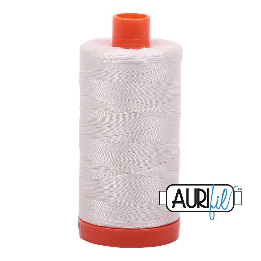 Aurifil Thread, 100% Cotton, Muslin #2311, 50 wt, 1422 yards