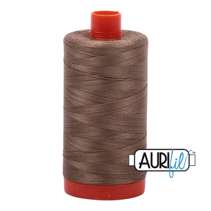 Aurifil Thread, 100% Cotton, Sandstone #2370, 50 wt, 1422 yards