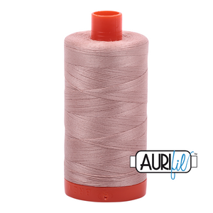 Aurifil Thread, 100% Cotton,  Antique Blush #2375, 50 wt, 1422 yards