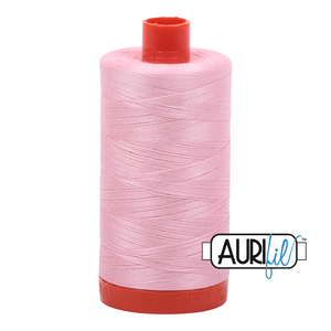 Aurifil Thread, 100% Cotton, Baby Pink #2423, 50 wt, 1422 yards