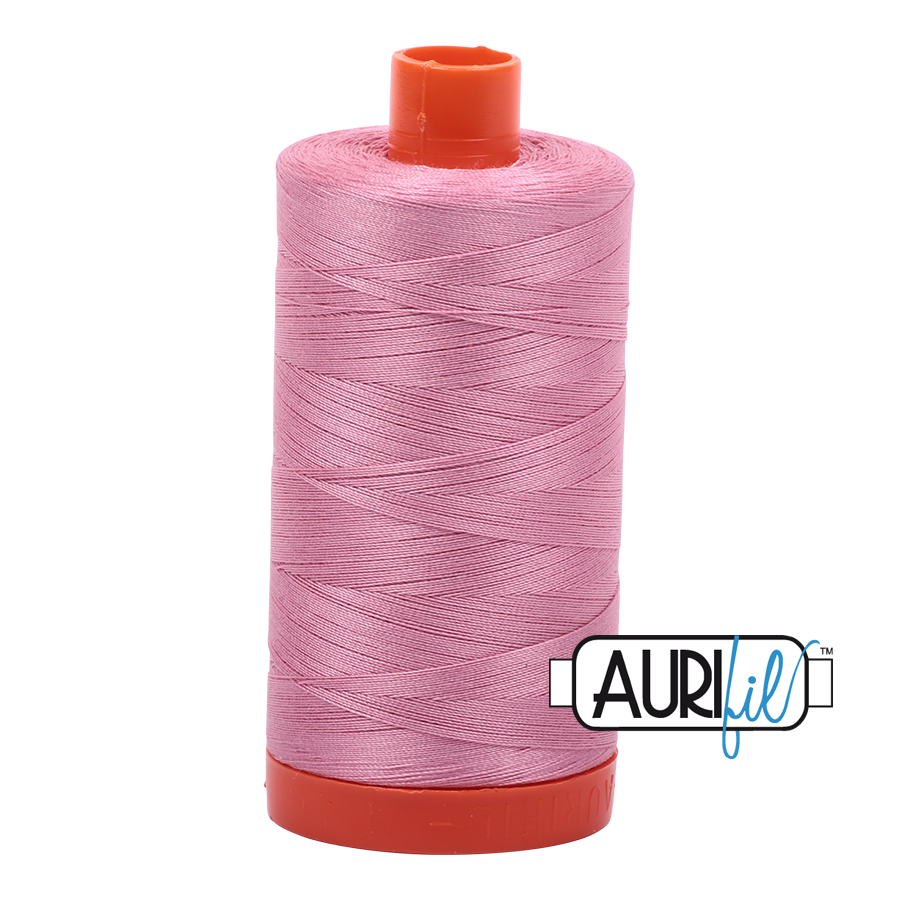 Aurifil Thread, 100% Cotton, Antique Rose #2430, 50 wt, 1422 yards