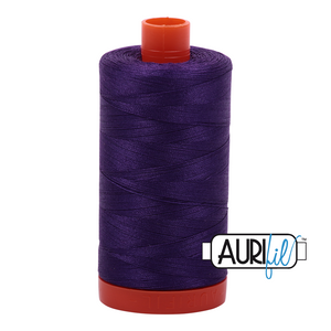 Aurifil Thread, 100% Cotton, Medium Purple #2545, 50 wt, 1422 yards