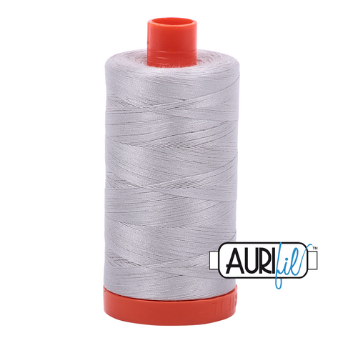 Aurifil Thread, 100% Cotton, Aluminum #2615, 50 wt, 1422 yards