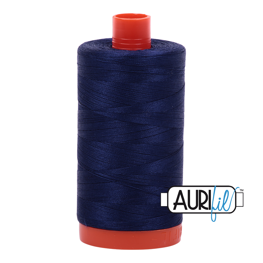 Aurifil Thread, 100% Cotton, Midnight #2745, 50 wt, 1422 yards