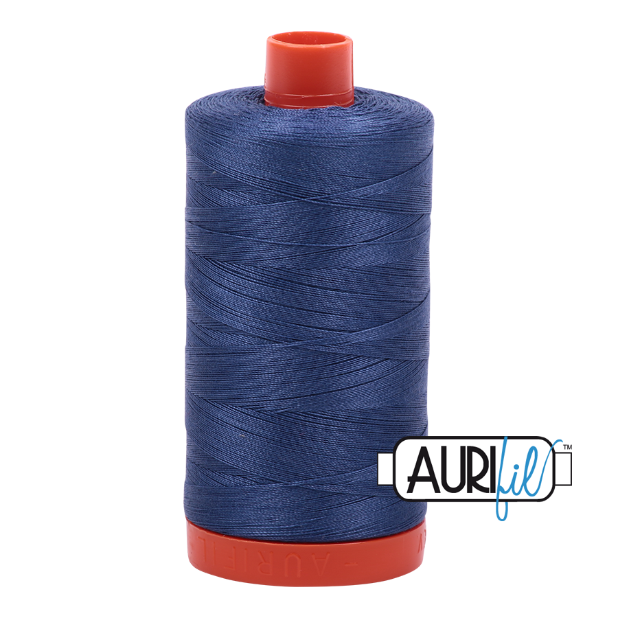 Aurifil Thread, 100% Cotton, Steel Blue #2775, 50 wt, 1422 yards