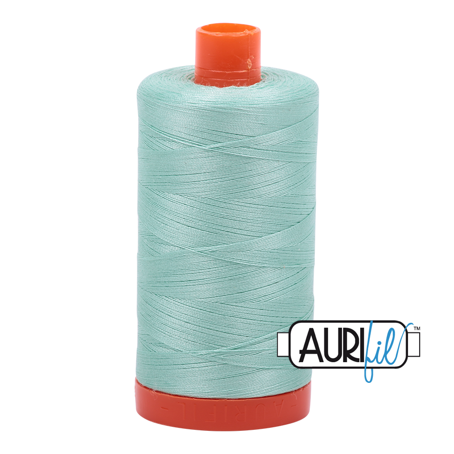 Aurifil Thread, 100% Cotton, Mint #2830, 50 wt, 1422 yards
