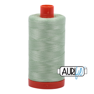 Aurifil Thread, 100% Cotton, Pale Green #2880, 50 wt, 1422 yards