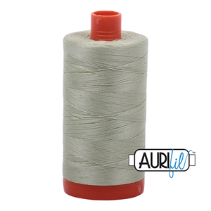 Aurifil Thread, 100% Cotton, Spearmint #2908, 50 wt, 1422 yards