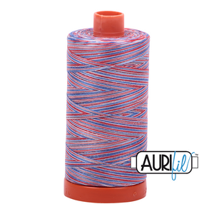 Aurifil Thread, 100% Cotton, Variegated Liberty #3852, 50 wt, 1422 yards