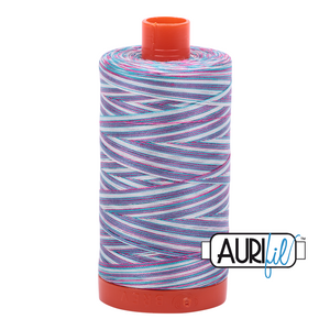 Aurifil Thread, 100% Cotton, Variegated Berrylicious #4647, 50 wt, 1422 yards