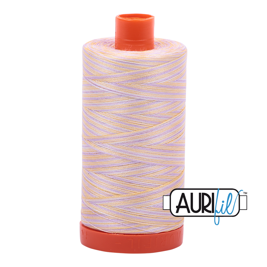Aurifil Thread, 100% Cotton, Variegated Bari #4651, 50 wt, 1422 yards