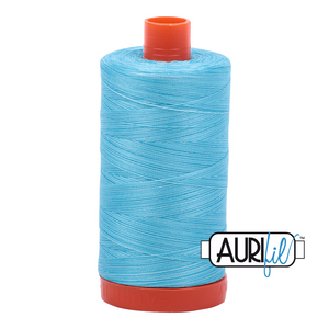 Aurifil Thread, 100% Cotton, Variegated Baby Blue Eyes #4663, 50 wt, 1422 yards