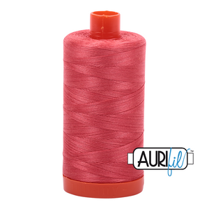 Aurifil Thread, 100% Cotton, Medium Red #5002, 50 wt, 1422 yards