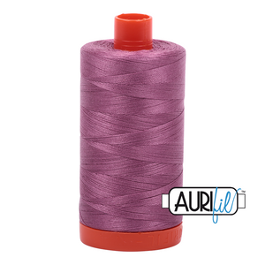 Aurifil Thread, 100% Cotton, Wine #5003, 50 wt, 1422 yards