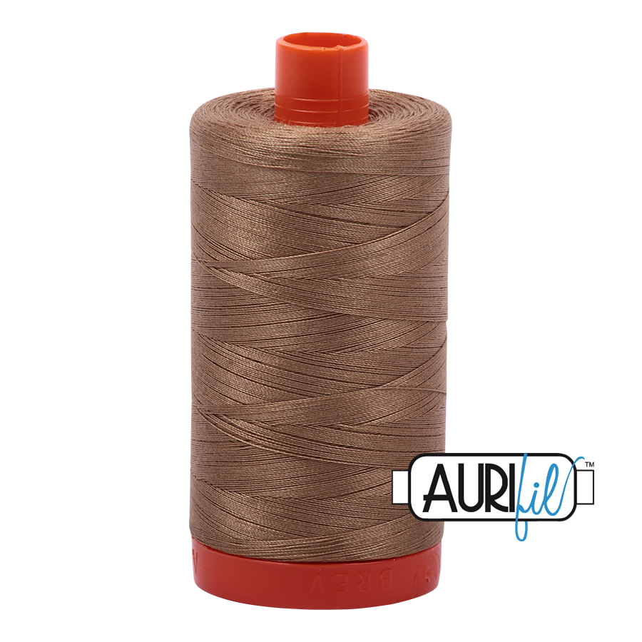Aurifil Thread, 100% Cotton, Toast #6010, 50 wt, 1422 yards