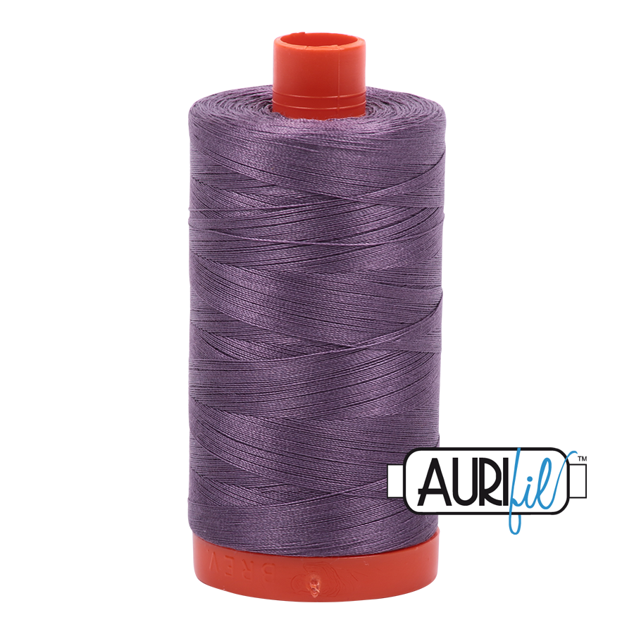 Aurifil Thread, 100% Cotton, Plumtastic #6735, 50 wt, 1422 yards