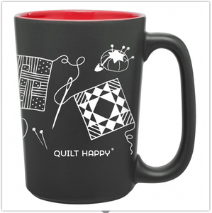 Quilting Scribbles Mug, Red, by Quilt Happy