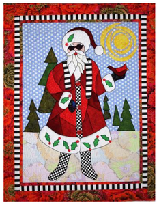 "Saint Nicky (A Different Santa) Pattern, 29"" x 37"" Wallhanging"